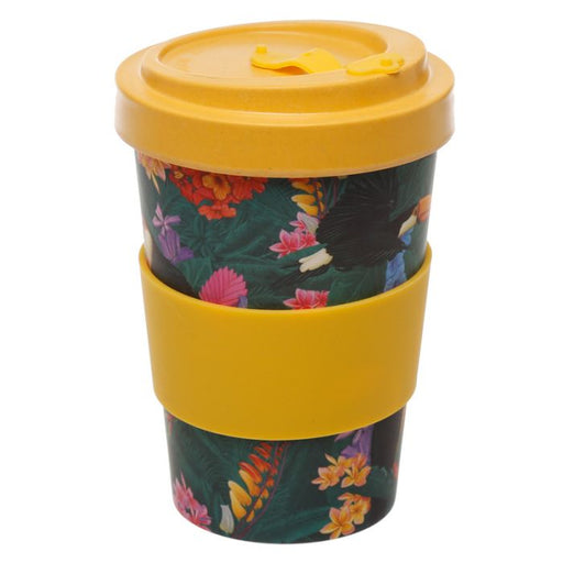 Toucan Reusable Screw Top Bamboo Travel Mug - Maktus