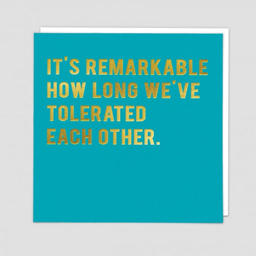 It's remarkable how long
