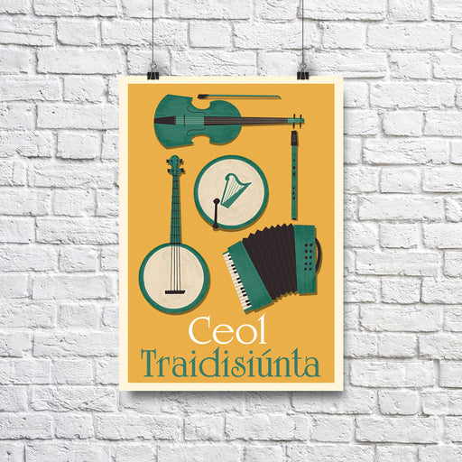 Ceol Traidisiunta A4- Traditional Irish musical Instruments - Maktus