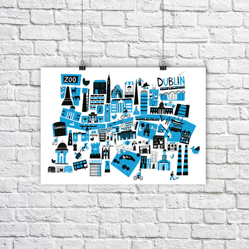 Dublin City Map A3 - Maktus