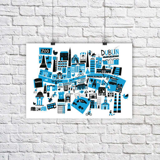 Dublin City Map A4