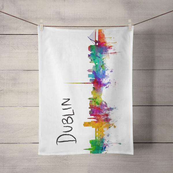 Dublin Skyline Tea Towel