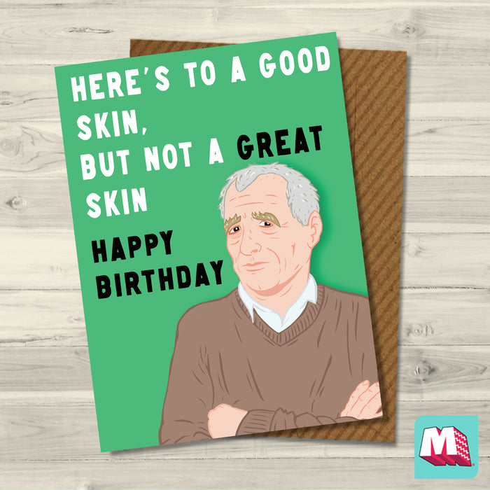 Good Skin- Eamonn Dunphy Card