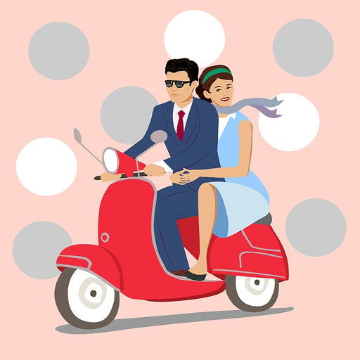 vespa couple