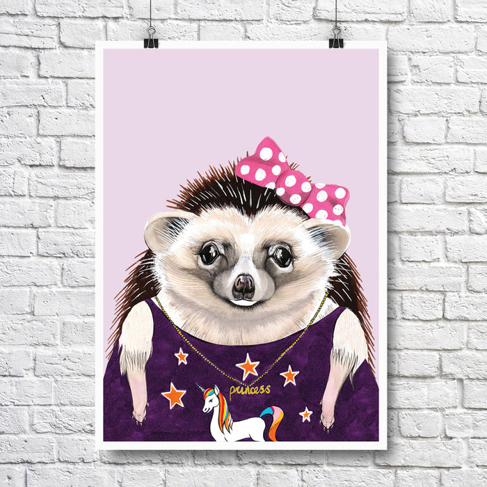 Animal A4 Print - Hedgehog