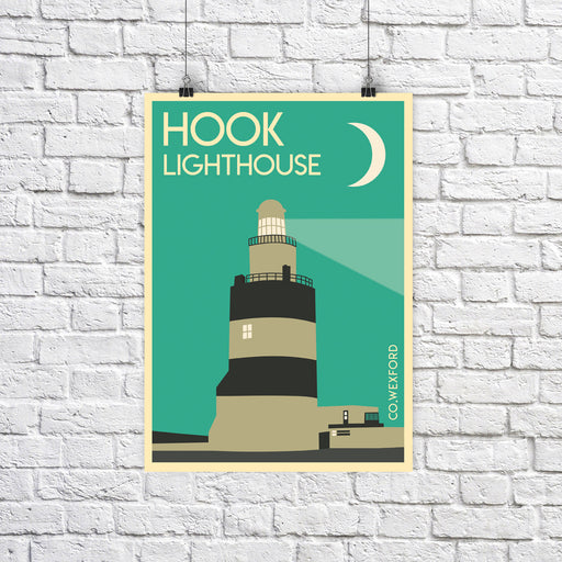 Hook Lighthouse A4 print - Maktus