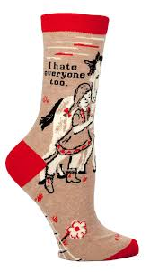 I Hate Everyone Too Ladies Socks - Maktus