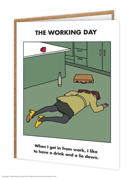 Working Day Lie Down Card