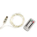 Extra Long Silver String Lights with remote control - Maktus