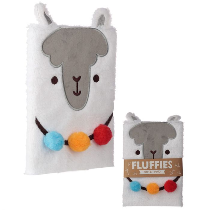 Fluffy Plush Notebook - Llama Design - Maktus