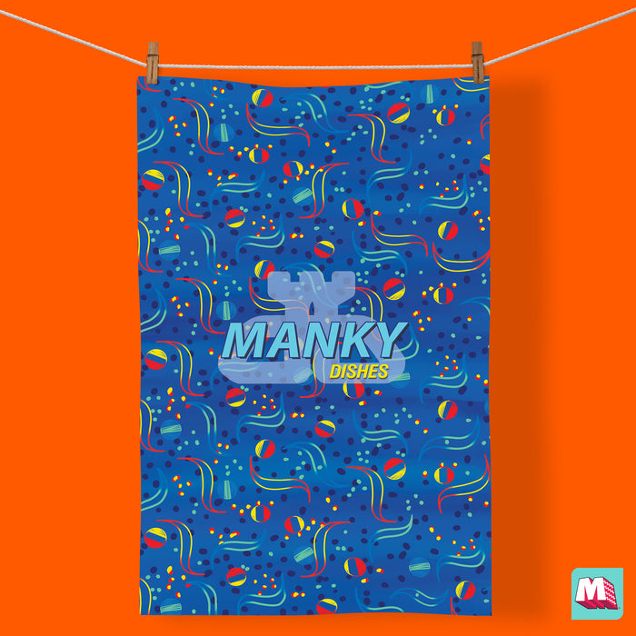 Manky Dishes - Tea Towel