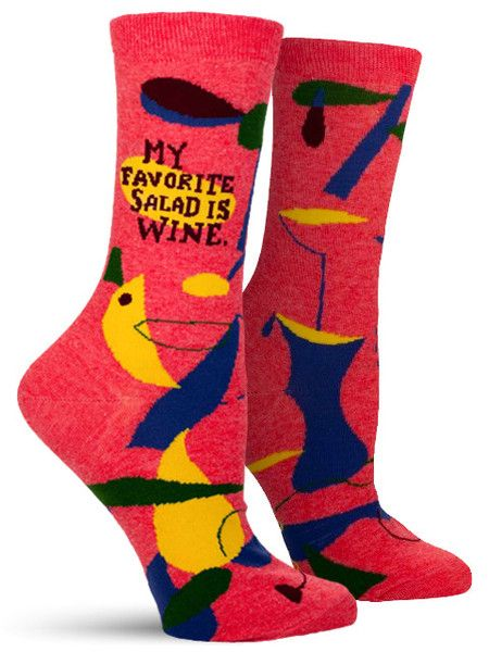 My Favourite Salad is Wine Ladies Socks - Maktus