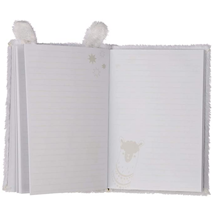 Fluffy Plush Llama Notebook