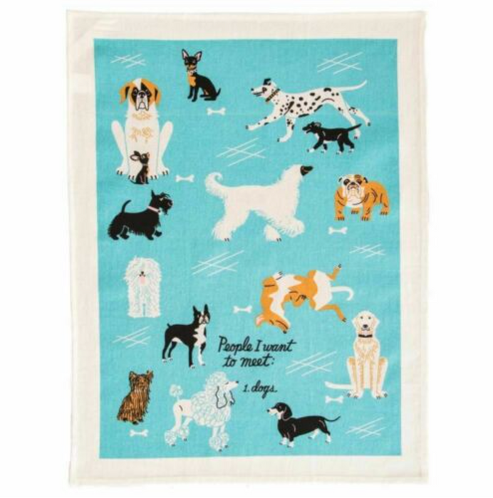 People to Meet - Dogs Tea Towel