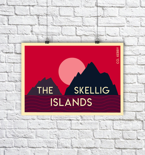 The Skellig Islands A3 print - Maktus