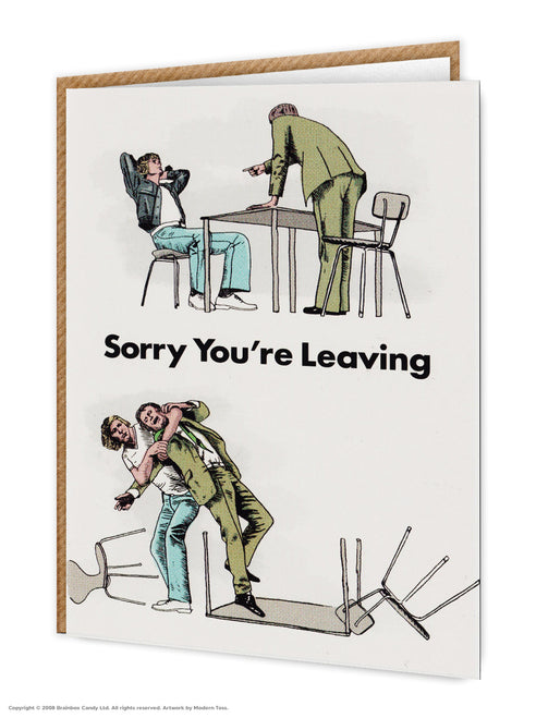 Sorry you are leaving card - Maktus