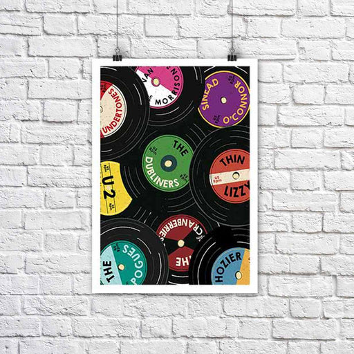 Vinyl Records of Ireland - A3 Print - Maktus
