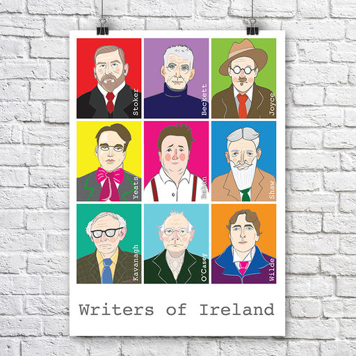 Maktus Writers of Ireland Print A3 - Maktus