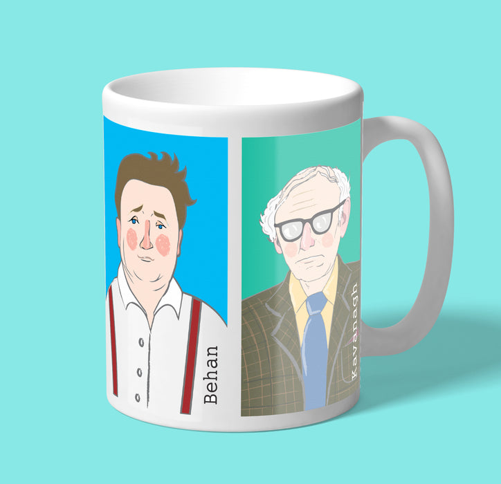 Writers of Ireland (Wilde, Shaw, Behan, Kavanagh) series 1— Mug
