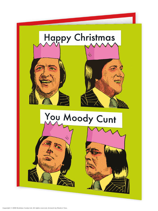 Moody Cunt Christmas Card - Maktus