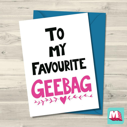 Geebag birthday card - Maktus
