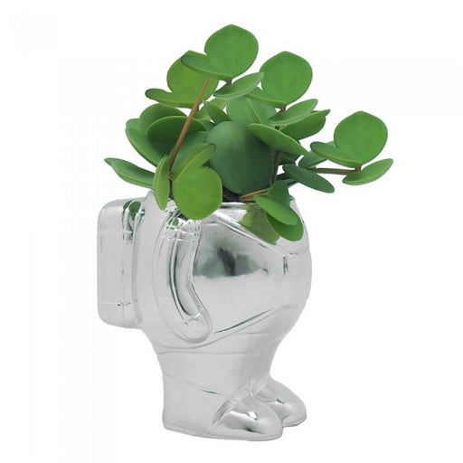 Astronaut Planter Silver - Medium - Maktus