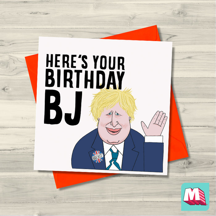 Boris Johnson BJ Birthday card