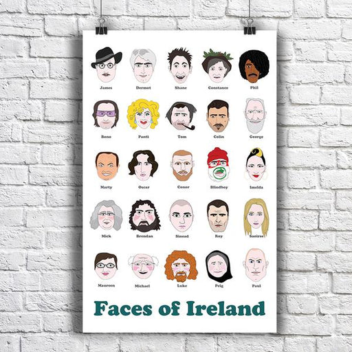 Maktus Faces of Ireland Poster A2 - Maktus
