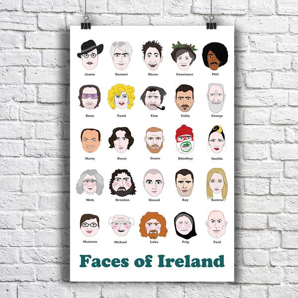 Maktus Faces of Ireland Poster A2