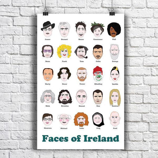 Maktus Faces of Ireland Poster A3 - Maktus