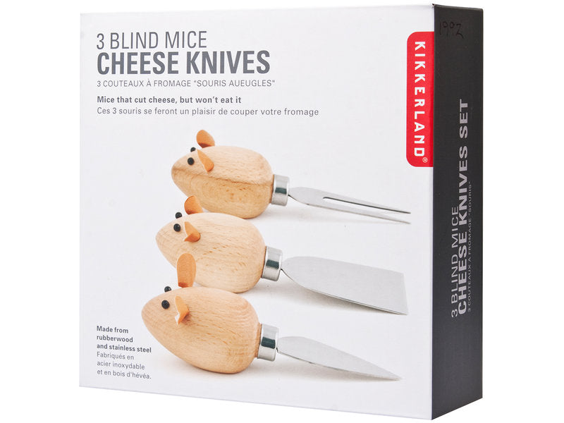 3 Blind Mice Cheese Knives
