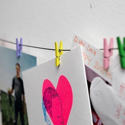Mini Clothespin Photo Display