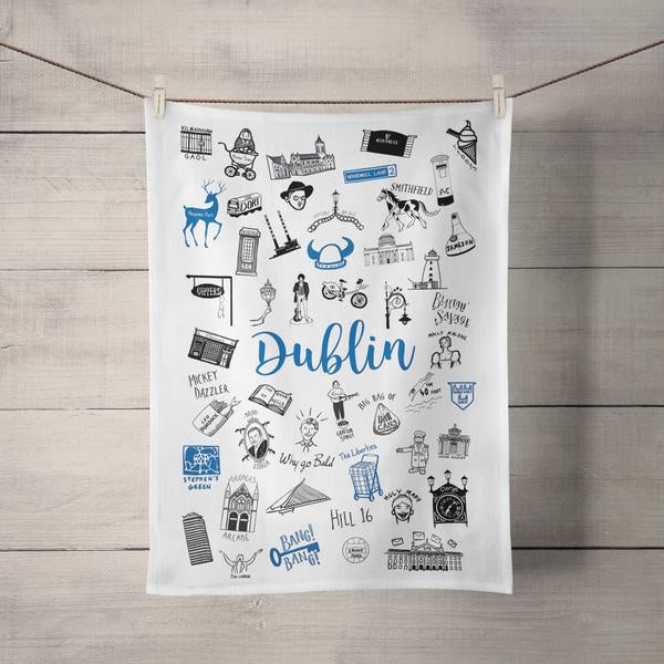 Dublin Doodles Tea Towel