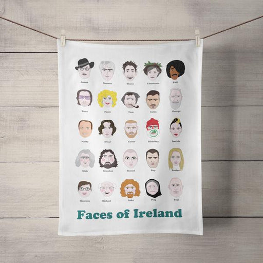 Faces of Ireland Tea Towel - Maktus
