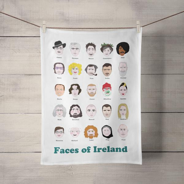 Faces of Ireland Tea Towel