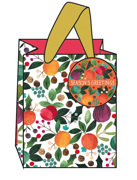 FESTIVE FRUITS SMALL GIFT BAG - Maktus