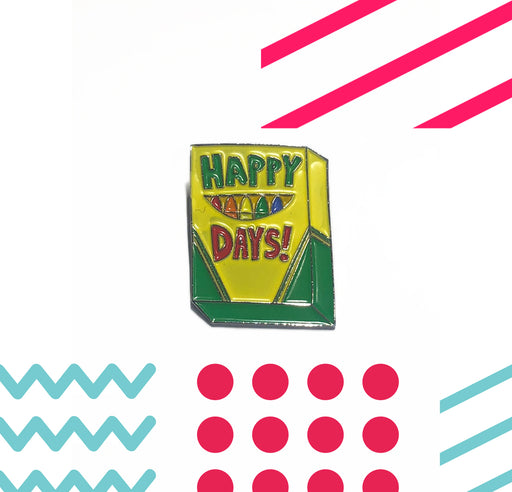 Happy Days Crayola Enamel Pin