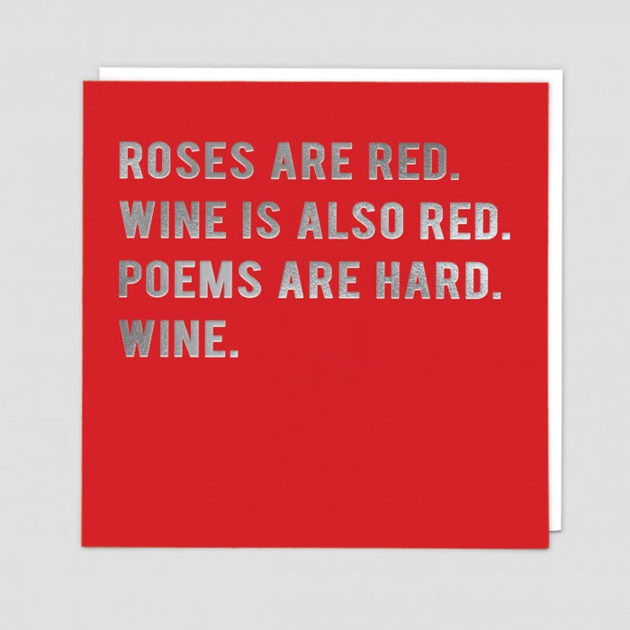 Wine is also red- Poem