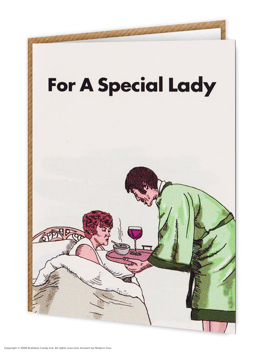 For a Special Lady Card-Modern toss