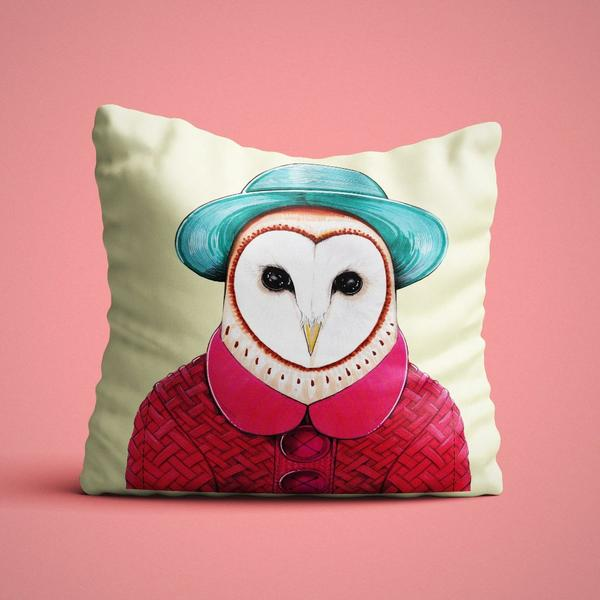 Owl Cushion Cover - Maktus