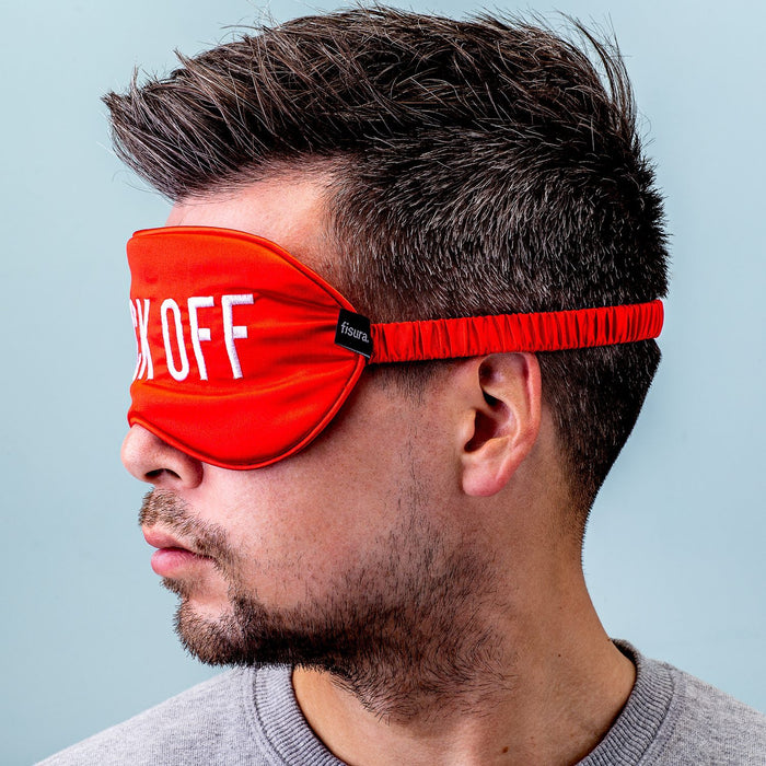 Fuck Off Eye Mask- Red