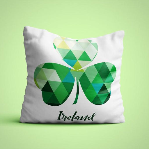 Shamrock geometric cushion cover