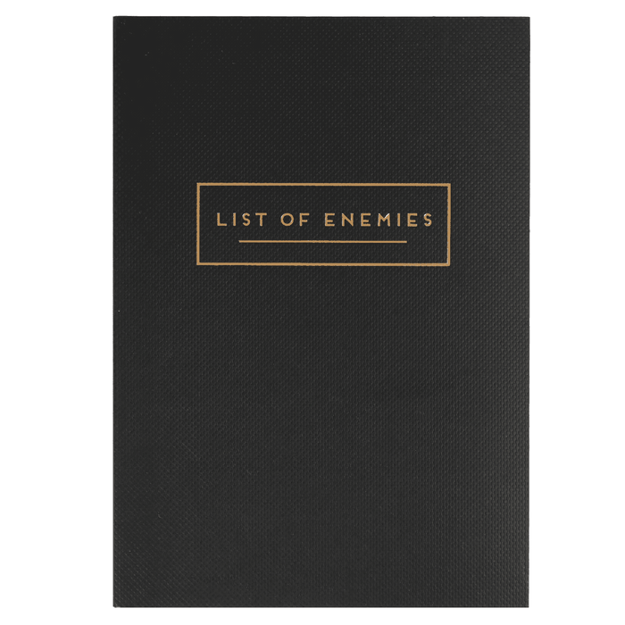 List Of Enemies Notebook - Maktus