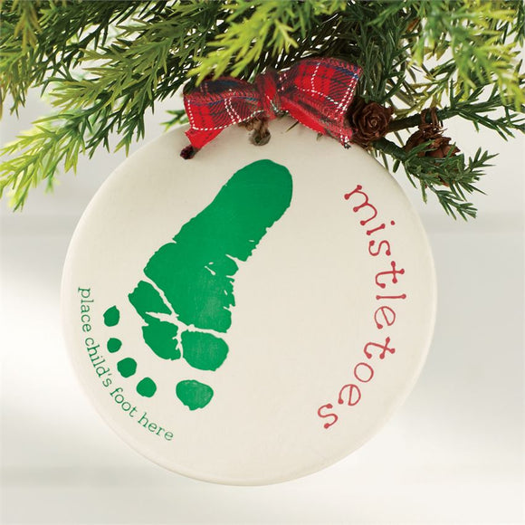 Mistletoes Foot Print Ornament