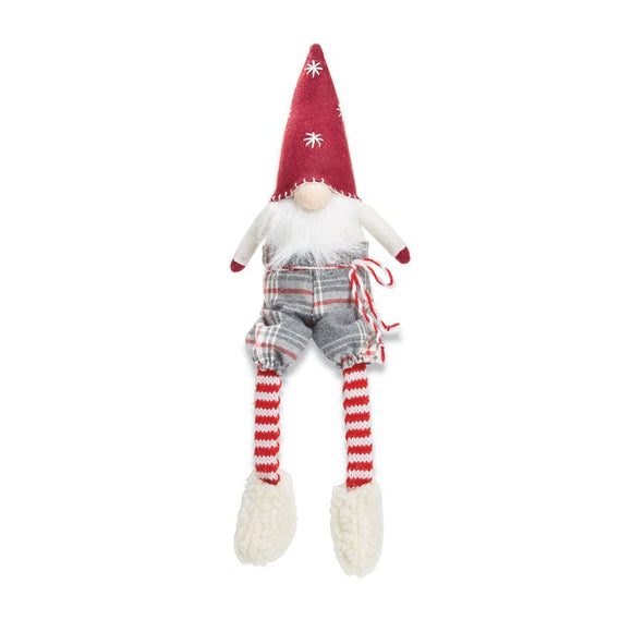 Red Felt Christmas Gnome Sitter