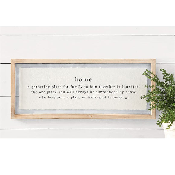 Home Definition Framed Print