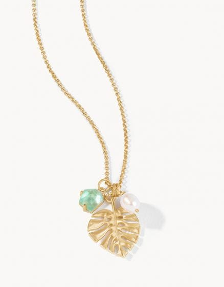 Monstera Petite Necklace