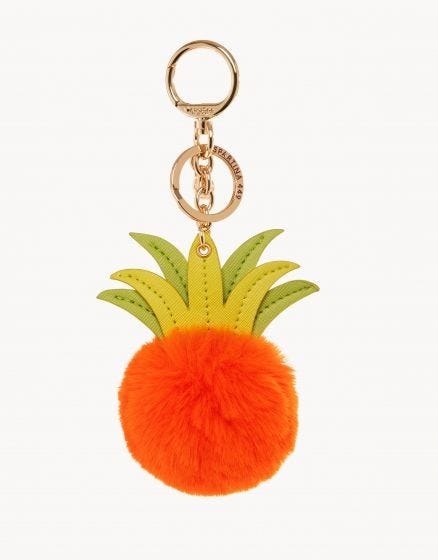 Pineapple Poof Icon Keychain