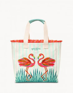 Flamingo Beach Tote in Moreland
