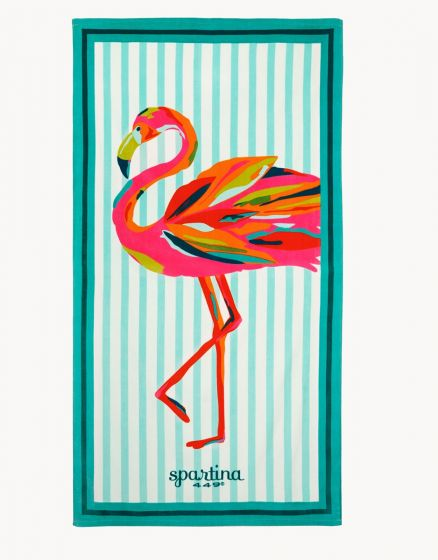 Flamingo Beach Towel in Moreland